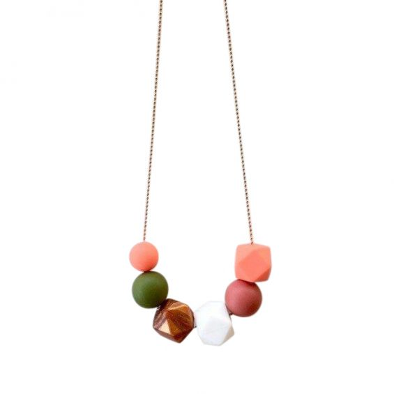 One.Chew.Three - Lexi Necklace - Coral