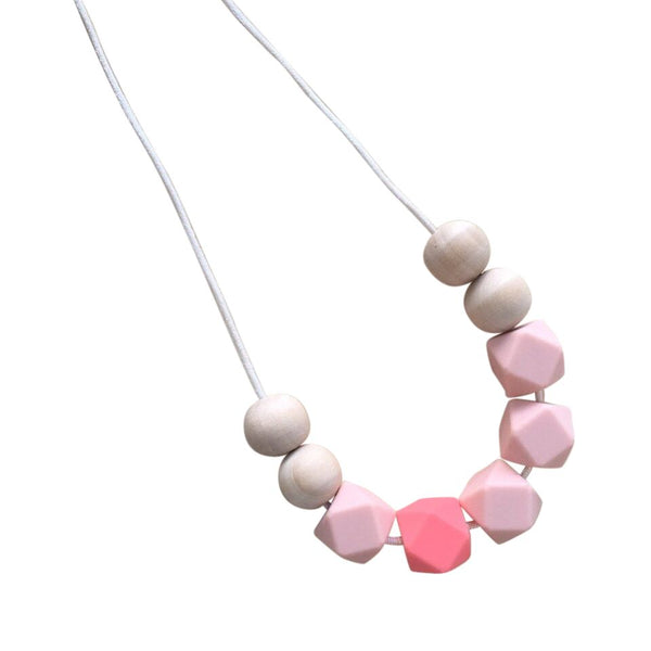 One.Chew.Three - Stella Necklace - Coral - toybox.ae