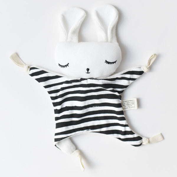 Wee Gallery Cuddle Bunny - Stripes - Organic Cotton