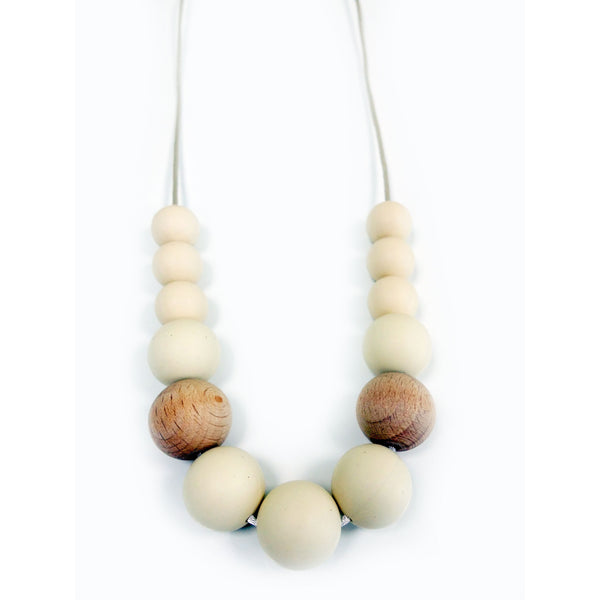 One.Chew.Three - Evie Necklace - Cream - toybox.ae