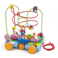 Pull Along Wire Beads with Turning Gears - toybox.ae