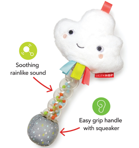 Silver Lining Cloud Rain Stick Rattle