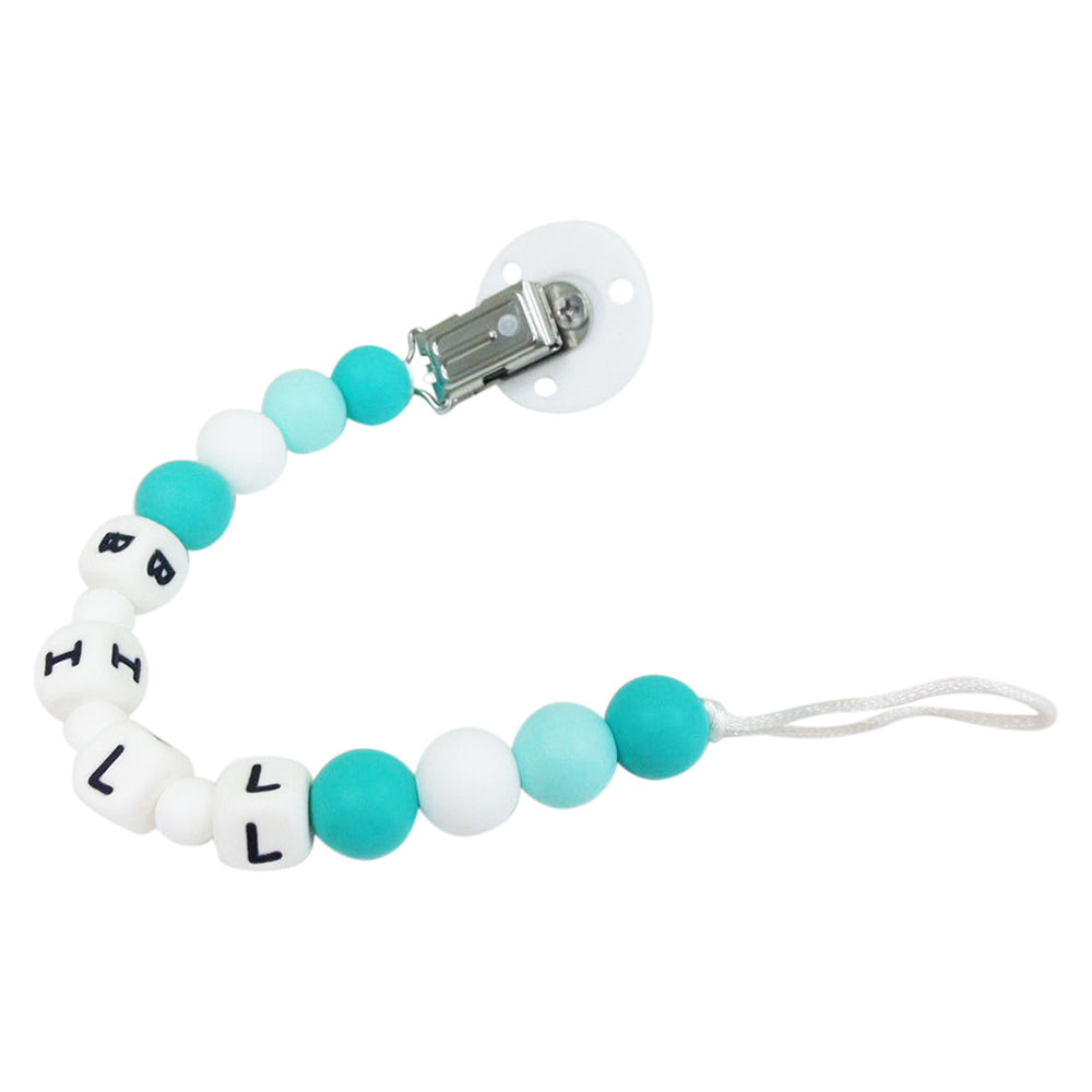 Desert Chomps Personalized Pacifier Clip - Aqua Sea - toybox.ae