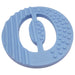 One.Chew.Three - Alphabet Chews Silicone Letter Teething Disc - O - Blue - toybox.ae