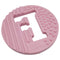 One.Chew.Three - Alphabet Chews Silicone Letter Teething Disc - F - Pink - toybox.ae