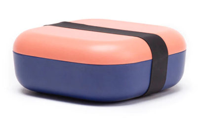 Ekobo Go Duo Color Snack Box - Coral / Royal Blue - toybox.ae