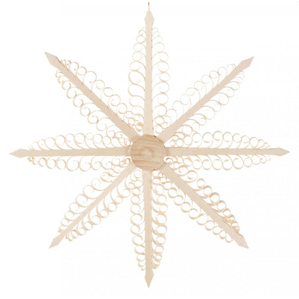 Ornament Wood Chip Star