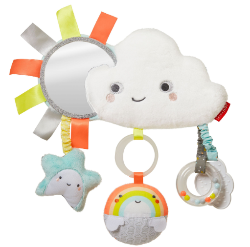 Silver Lining Rattle Stroller Toy