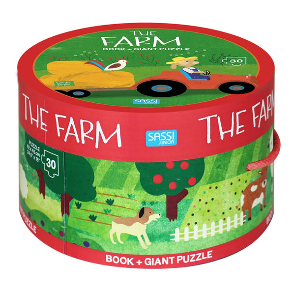 Book And Giant Puzzle - The Farm Puzzle