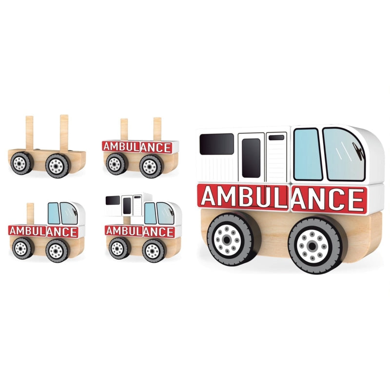 AMBULANCE STACKING TRUCK - toybox.ae