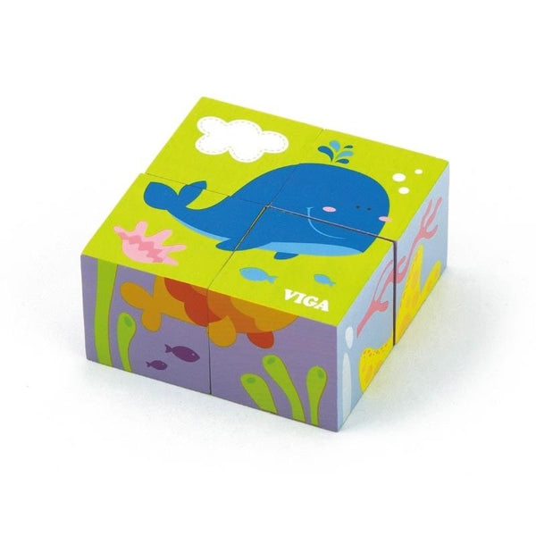 Viga 4pcs 6-side Cube Puzzle - sea