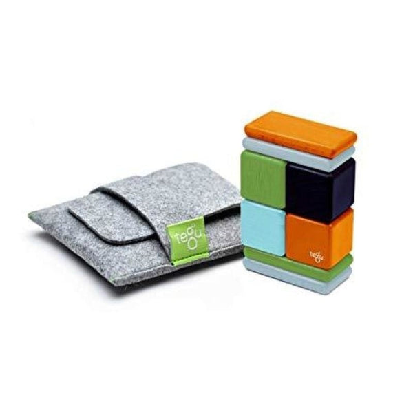 8 Piece Tegu Pocket Pouch Magnetic Wooden Block Set, Nelson - toybox.ae