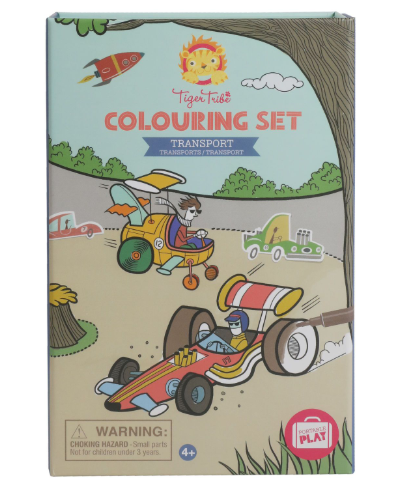 Colouring Set - Transport - toybox.ae