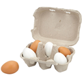 Wooden Eggs (6pcs) - toybox.ae