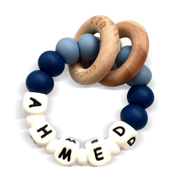 Desert Chomps Personalized Teether - Ringlet - Midnight Blue - toybox.ae