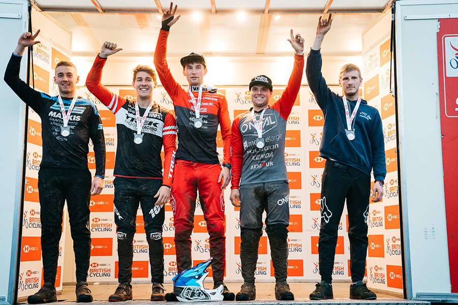 Intense Cycles UK's Joe Breeden Ae Forest Downhill Podium