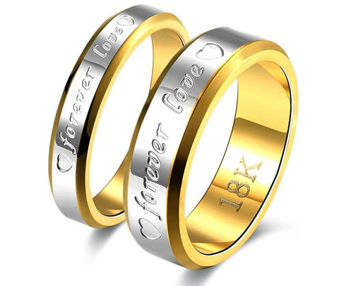 18K Gold Plated Couples Ring