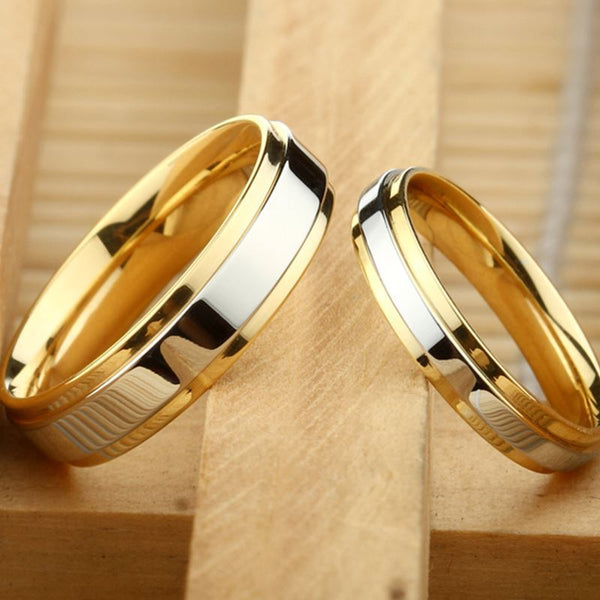 Wedding Ring Silver and Gold
