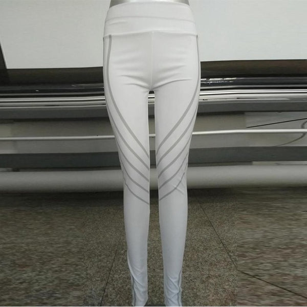 Shiny High Waist Bodycon Pants