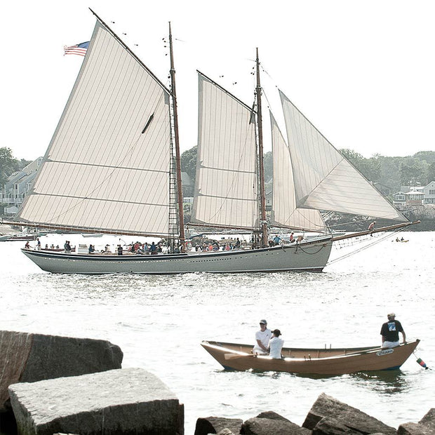 Schooner Leaving Port