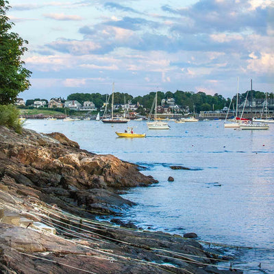 Yellow Boat Leaving Marblehead