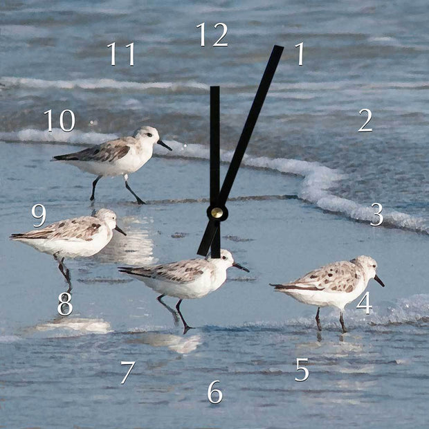 Sandpipers Clock