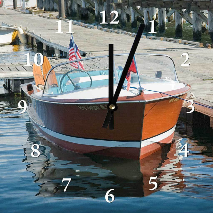 Classic Chris Craft Clock