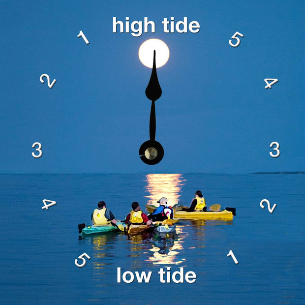 Moonlight Kayak Clock