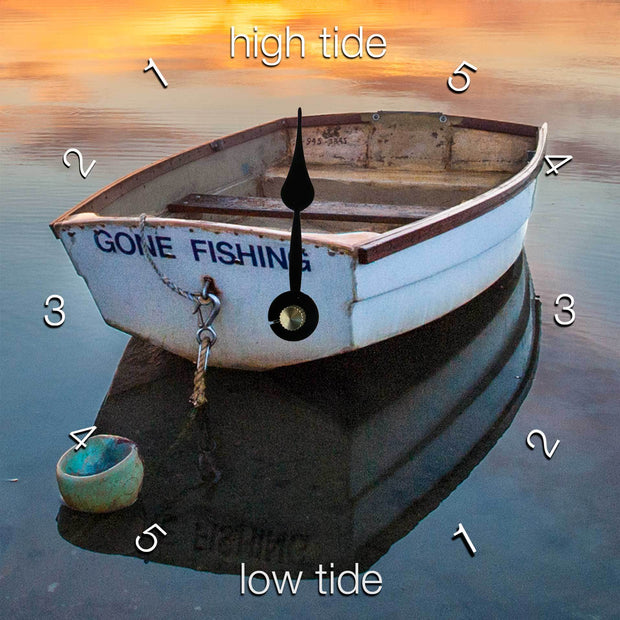 """Gone Fishing"" Clock"