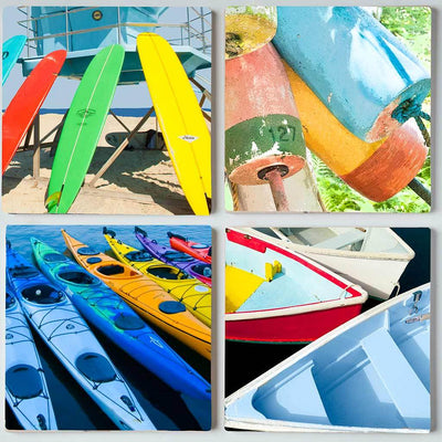 Boats & Buoys I Coaster Set