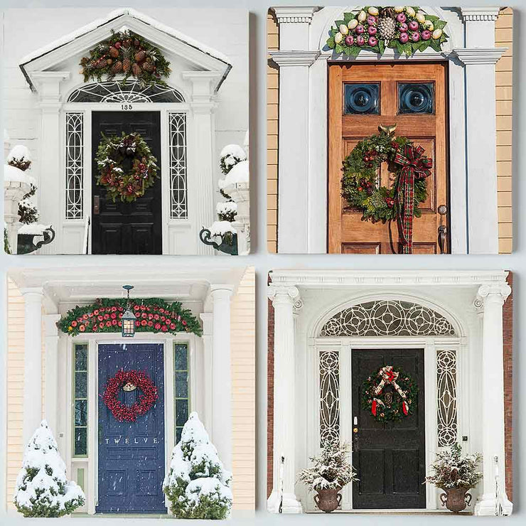 Winter Doors I Coaster Set