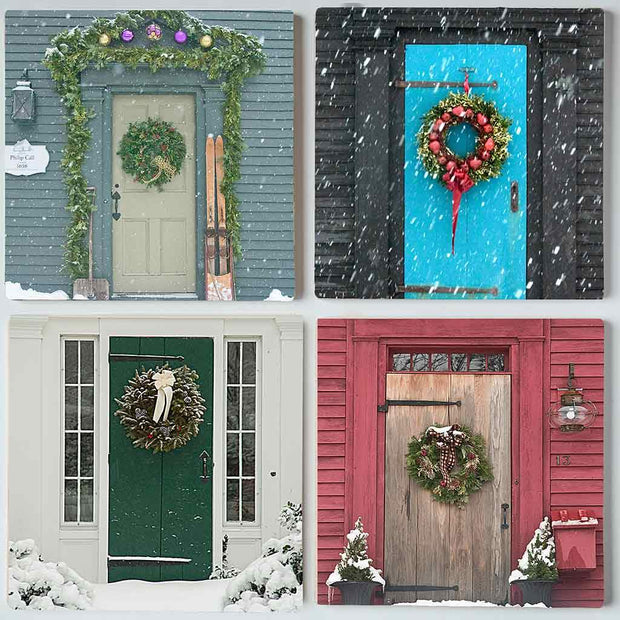 Winter Doors II Coaster Set
