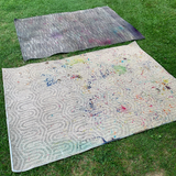 Photo showing two inexpensive, affordable 4 x 6 rugs