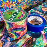 Photo of painters tape and two rolls of tie dye duck tape