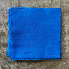 A True-to-Color Swatch, Taken Under Natural Sunlight on a 100% Color Sample Square of Dharma Trading Co. Procion Fiber Reactive Dye in Color Alpine Blue