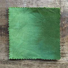 True-to-Color Swatch, Taken Under Natural Sunlight on a 100% Color Sample Square of Dharma Trading Co. Procion Fiber Reactive Dye in Color Avocado