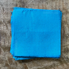 A True-to-Color Swatch, Taken Under Natural Sunlight on a 100% Color Sample Square of Dharma Trading Co. Procion Fiber Reactive Dye in the Original, Pre-2020 Formulation of Color Bahama Blue