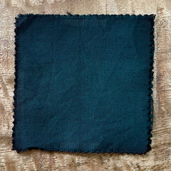 True-to-Color Swatch, Taken Under Natural Sunlight on a 100% Color Sample Square of Dharma Trading Co. Procion Fiber Reactive Dye in Color Better Blue Green