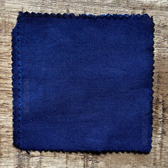 A True-to-Color Swatch, Taken Under Natural Sunlight on a 100% Color Sample Square of Dharma Trading Co. Procion Fiber Reactive Dye in the New, Reformulated Version of Color Blueberry