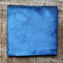 A True-to-Color Swatch, Taken Under Natural Sunlight on a 100% Color Sample Square of Dharma Trading Co. Procion Fiber Reactive Dye in Color Blue Gray