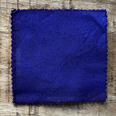 True-to-Color Swatch, Taken Under Natural Sunlight on a 100% Color Sample Square of Dharma Trading Co. Procion Fiber Reactive Dye in Color Blue Violet