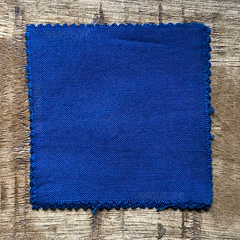 A True-to-Color Swatch, Taken Under Natural Sunlight on a 100% Color Sample Square of Dharma Trading Co. Procion Fiber Reactive Dye in Color Brilliant Blue