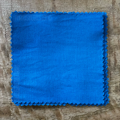 A True-to-Color Swatch, Taken Under Natural Sunlight on a 100% Color Sample Square of Dharma Trading Co. Procion Fiber Reactive Dye in Color Caribbean Blue