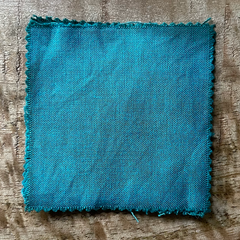 True-to-Color Swatch, Taken Under Natural Sunlight on a 100% Color Sample Square of Dharma Trading Co. Procion Fiber Reactive Dye in Color Celadon