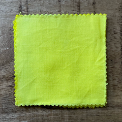 A True-to-Color Swatch, Taken Under Natural Sunlight on a 100% Color Sample Square of Dharma Trading Co. Procion Fiber Reactive Dye in Color Citrus Yellow