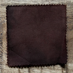 A True-to-Color Swatch, Taken Under Natural Sunlight on a 100% Color Sample Square of Dharma Trading Co. Procion Fiber Reactive Dye in Color Dark Brown