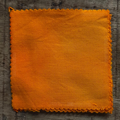 A True-to-Color Swatch, Taken Under Natural Sunlight on a 100% Color Sample Square of Dharma Trading Co. Procion Fiber Reactive Dye in Color Deep Yellow