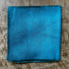 True-to-Color Swatch, Taken Under Natural Sunlight on a 100% Color Sample Square of Dharma Trading Co. Procion Fiber Reactive Dye in Color Desert Green