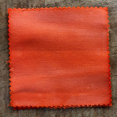 A True-to-Color Swatch, Taken Under Natural Sunlight on a 100% Color Sample Square of Dharma Trading Co. Discontinued, Special Order Only Fiber Reactive Dye in Color Electric Melon