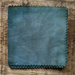 A True-to-Color Swatch, Taken Under Natural Sunlight on a 100% Color Sample Square of Dharma Trading Co. Discontinued, Limited Edition Fiber Reactive Dye in Color San Fransisco Fog